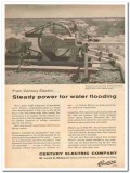 Century Electric Company 1959 Vintage Ad Motor Power Water Flooding