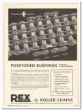Chain Belt Company 1959 Vintage Ad Rex Positioned Bushings Strength