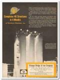 Chicago Bridge Iron Company 1959 Vintage Ad Petroleum Chemicals Plant
