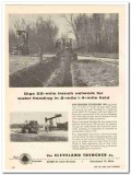 cleveland trencher company 1959 digs 55-mile water flooding vintage ad