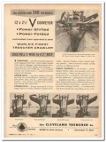 cleveland trencher company 1959 v-conveyor power shifted vintage ad