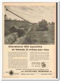 cleveland trencher company 1959 backfills 2-miles-per-day vintage ad