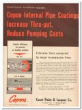 coast paint lacquer company 1959 internal pipe coating vintage ad