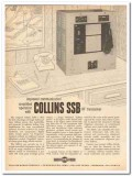 collins radio company 1959 improved ssb hf transceiver  vintage ad
