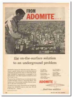 Continental Oil Company 1959 Vintage Ad Adomite Surface Solution