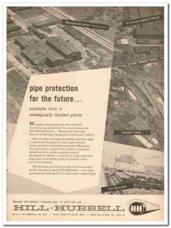 Hill Hubbell Company 1959 Vintage Ad Oil Pipe Protection Future Plants
