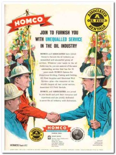 Houston Oil Field Material Company 1959 Vintage Ad Unequaled Service
