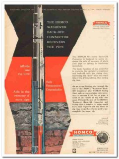 Houston Oil Field Material Company 1959 Vintage Ad Washover Back-Off