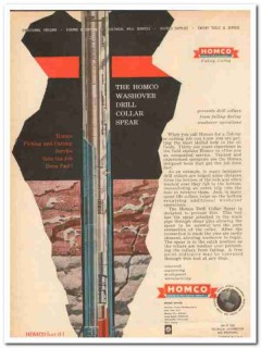 Houston Oil Field Material Company 1959 Vintage Ad Drill Collar Spear