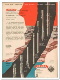 Houston Oil Field Material Company 1959 Vintage Ad Drilling Tools