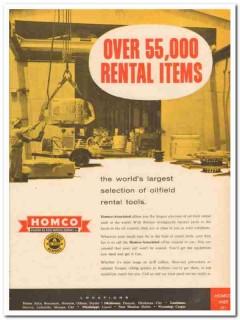 Houston Oil Field Material Company 1959 Vintage Ad Rental Tools