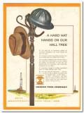 Hughes Tool Company 1959 Vintage Ad Oil Field Hard Hat Hangs Hall Tree