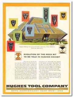 Hughes Tool Company 1959 Vintage Ad Oil Field Rock Bit Evolution