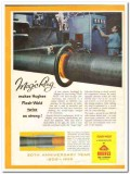 Hughes Tool Company 1959 Vintage Ad Oil Pipe Magic Ring Flash-Weld