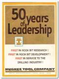 Hughes Tool Company 1959 Vintage Ad Oil Field Rock Bit Leadership