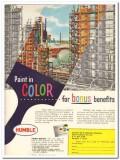 Humble Oil Refining Company 1959 Vintage Ad Paint Color Bonus Benefits
