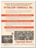 Ingersoll-Rand 1959 Vintage Ad Oil Petroleum Chemicals Inc Calcasieu