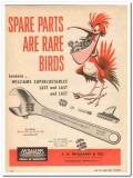 j h williams company 1959 spare parts superjustable tool vintage ad