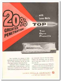 Lane-Wells Company 1959 Vintage Ad Oil Field Greater Penetration Top