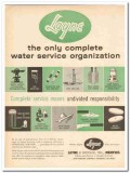 Layne Bowler Inc 1959 Vintage Ad Oil Field Complete Water Service
