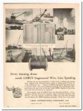 LeBus International Engineers 1959 Vintage Ad Oil Wire Line Spooling