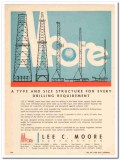 Lee C Moore Corp 1959 Vintage Ad Oil Drilling Structure Requirement