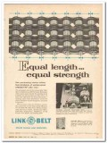 Link-Belt Company 1959 Vintage Ad Oil Roller Chains Length Strength