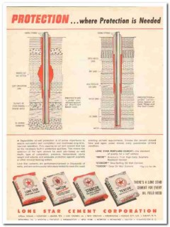 Lone Star Cement Corp 1959 Vintage Ad Oil Field Well Protection Needed