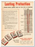 Lone Star Cement Corp 1959 Vintage Ad Oil Field Well Pipe Protection