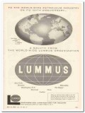 Lummus Company 1959 Vintage Ad Oil Gas Petroleum Industry World-Wide