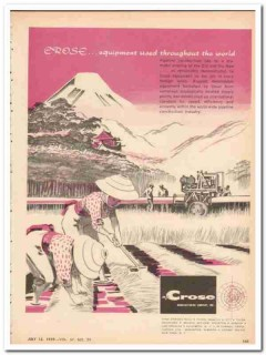 M J Crose Mfg Company 1959 Vintage Ad Oil Pipeline Equipment World