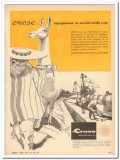 M J Crose Mfg Company 1959 Vintage Ad Pipeline Equipment World-Wide