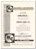 Maloney-Crawford Tank Mfg Company 1959 Vintage Ad Union Acquisition