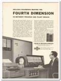 M W Kellogg Company 1959 Vintage Ad Oil Refinery Process 4th Dimension