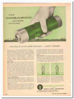 Perfect Circle Corp 1959 Vintage Ad Oil Cosasco Access Under Pressure
