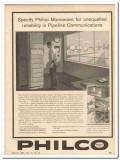 Philco Corp 1959 Vintage Ad Specify Microwave Pipeline Communication