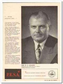 Phillips Petroleum Company 1959 Vintage Ad Oil K S Adams Chairman CEO