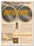 Pipe Line Service Corp 1959 Vintage Ad Oil Coated Wrapped Identical