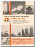 Pittsburgh-Des Moines Steel Company 1959 Vintage Ad Oil Spheres Bullet