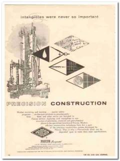 Procon Inc 1959 Vintage Ad Petro-Chemical Plant Precision Construction