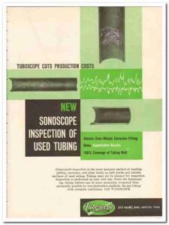 Tuboscope Company 1959 Vintage Ad Oil Sonoscope Inspection Used Tubing
