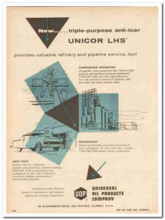 Universal Oil Products Company 1959 Vintage Ad Unicor LHS Anti-Icer