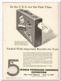 5th World Petroleum Congress Exposition 1959 Vintage Ad Packed Benefit