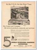 5th World Petroleum Congress Exposition 1959 Vintage Ad Newest Product