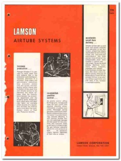 Lamson Corp 1964 Vintage Catalog Airtube Systems Production Delivery