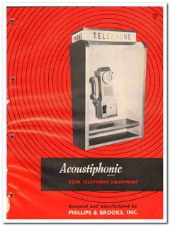 Phillips Brooks Inc 1964 Vintage Catalog Telephone Coin Acoustiphonic