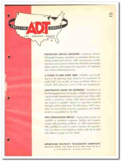 American District Telegraph Company 1964 Vintage Catalog ADT Protect