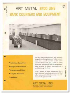 Art Metal Inc 1964 Vintage Catalog Bank Furniture Counters Equipment