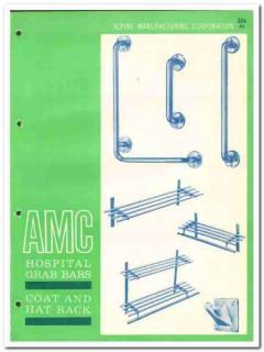 Alpine Mfg Company 1964 Vintage Catalog Metal Grab Bars Coat Hat Rack