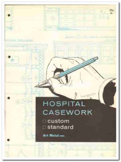 Art Metal Inc 1964 Vintage Catalog Furniture Hospital Casework Custom